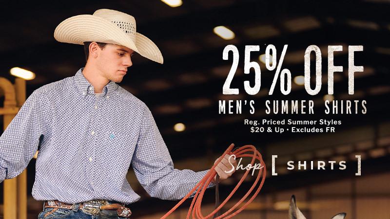 Men's Summer Shirts 25% Off