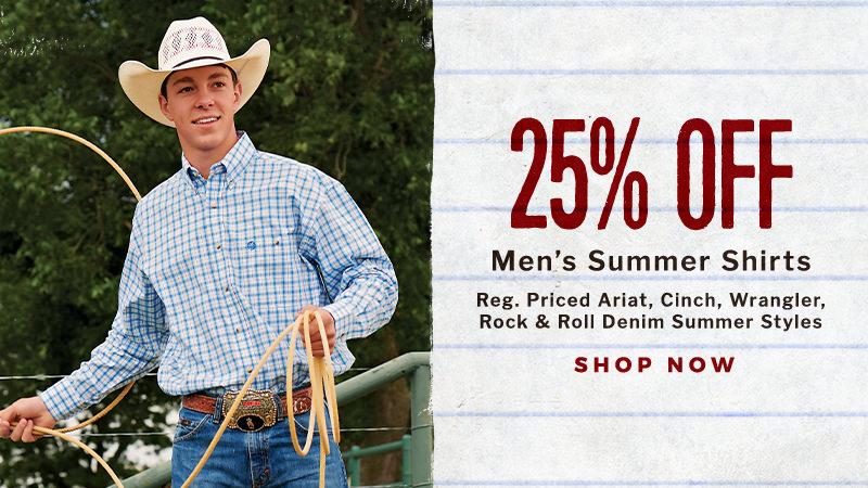 25% Off Men's Summer Shirts - Shop Now