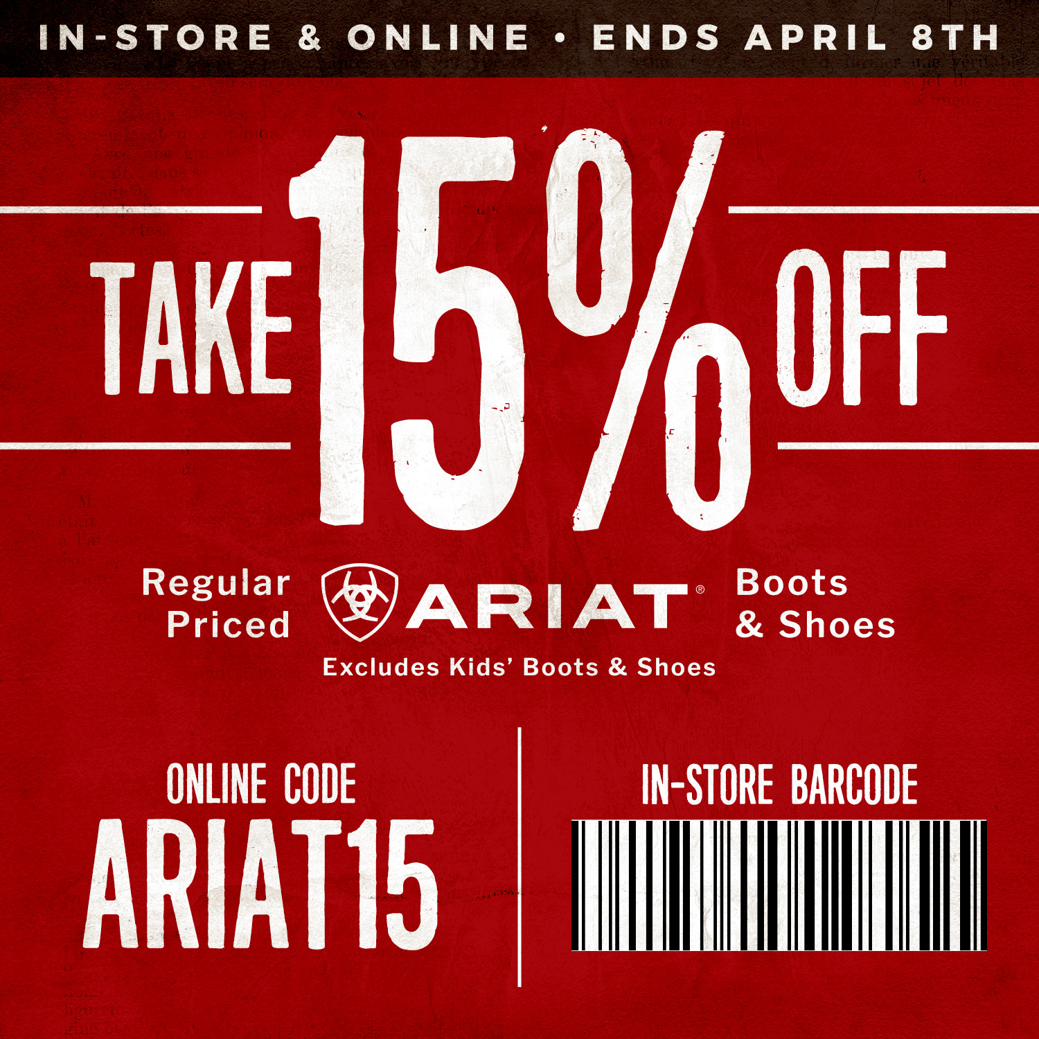 15% Off Ariat Boots