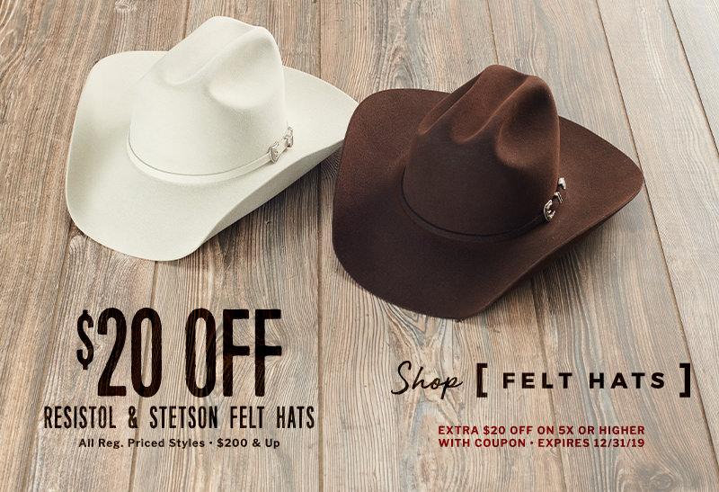 Resistol & Stetson Felt Hats