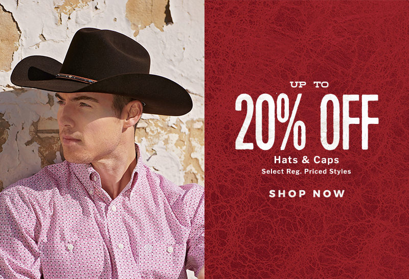 Shop Now for that perfect hat or cap during the Cavender's Spring Round Up Sale