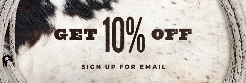 Sign up for emails and save 10% on your next purchase!