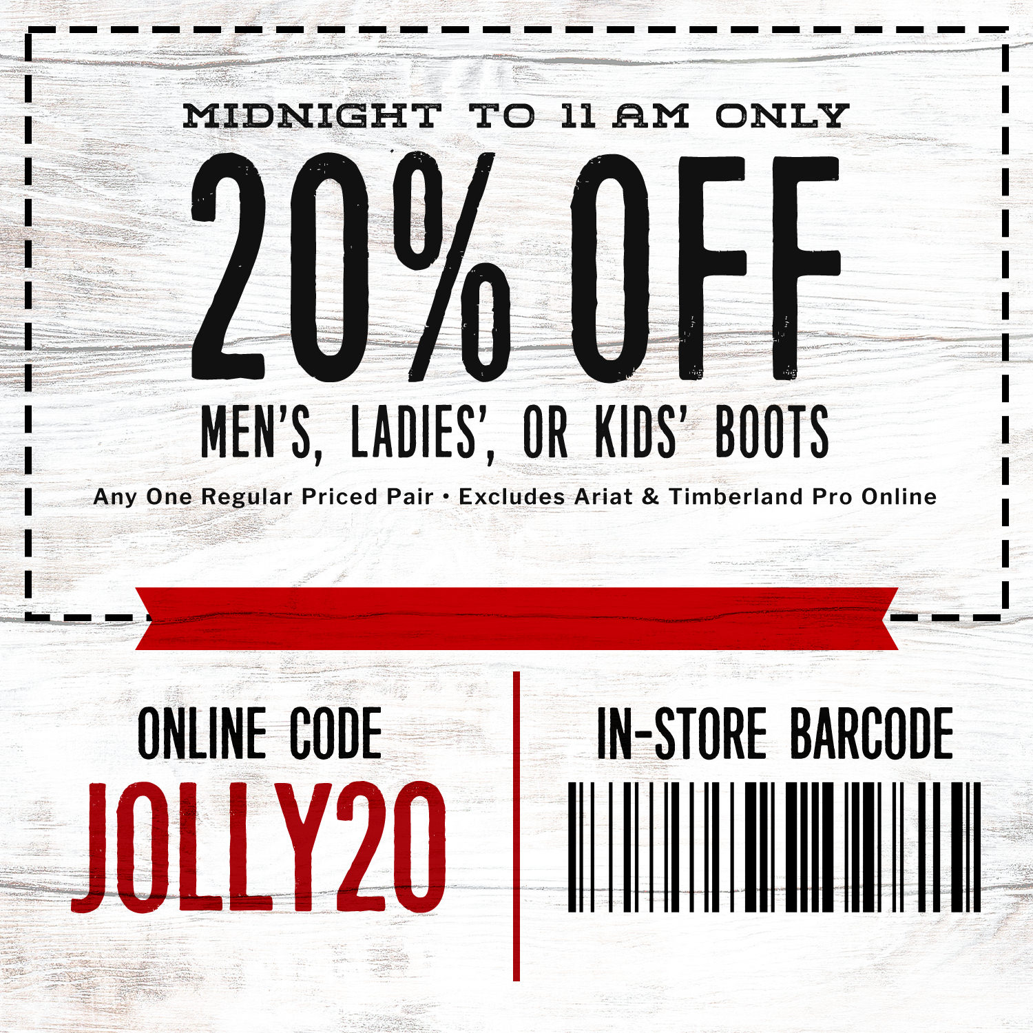 Boot Barn Promo Code For Christmas 2020 Black Friday Deals 2019   Free Shipping $50+ | Cavender's