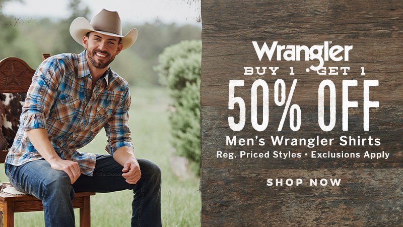Wrangler Buy One, Get One at 50% Off
