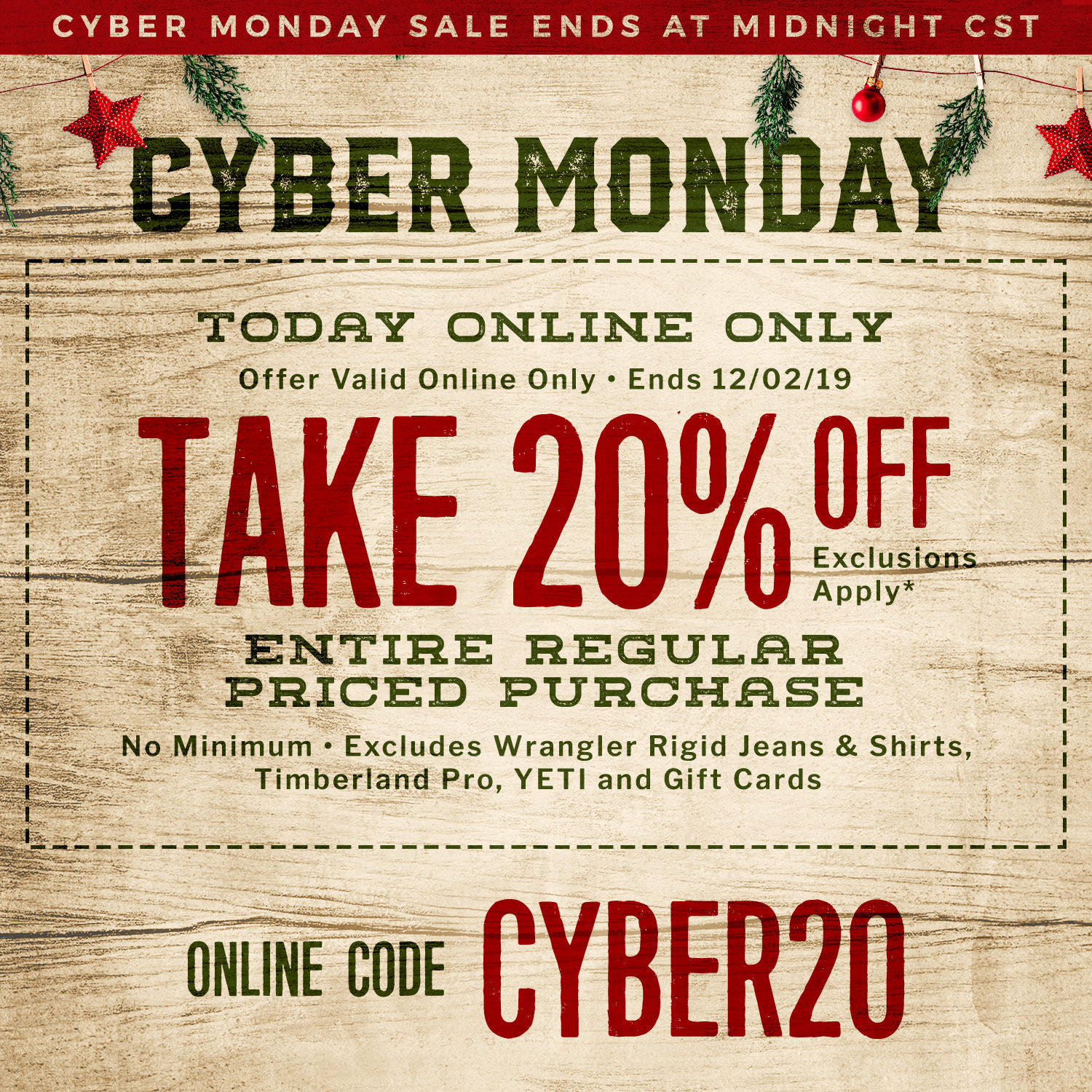Yeti Cyber Monday Sale >> Cyber Monday Deals 2019 Free Shipping 50 Cavender S