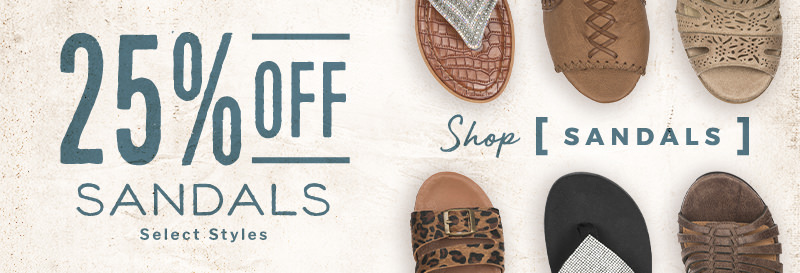 25% Off Sandals