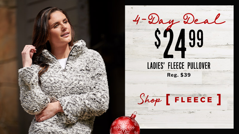 $24.99 Ladies' Fleece Pullover