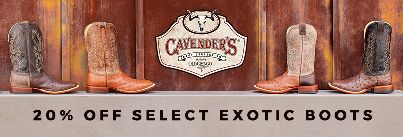 20% Off Men's Cavender's by Old Gringo Ostrich Boots