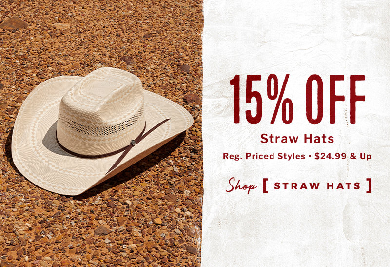 15% Off Straw Hats - Shop Straw Hats