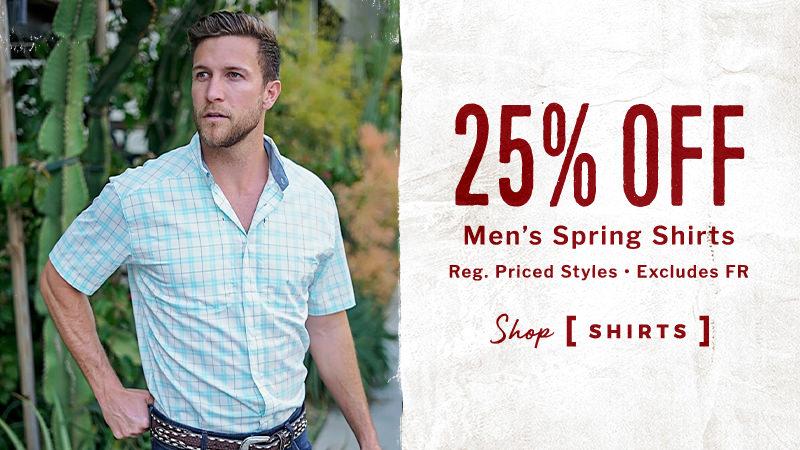 25% Off Men's Spring Shirts - Shop Shirts
