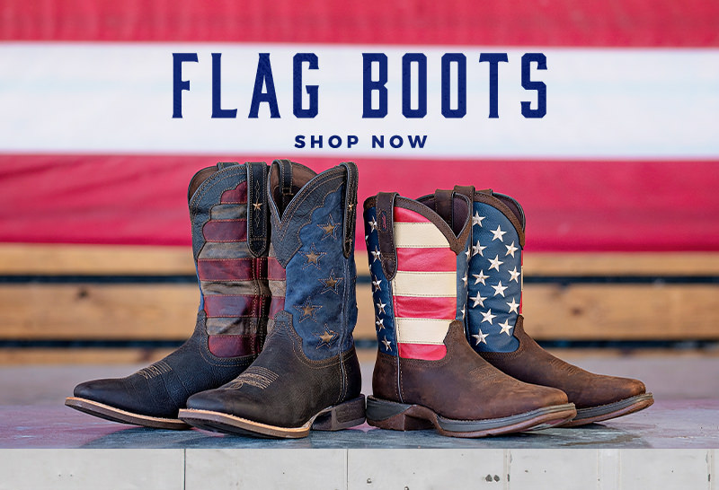 Shop our Flag Boots and Shoes
