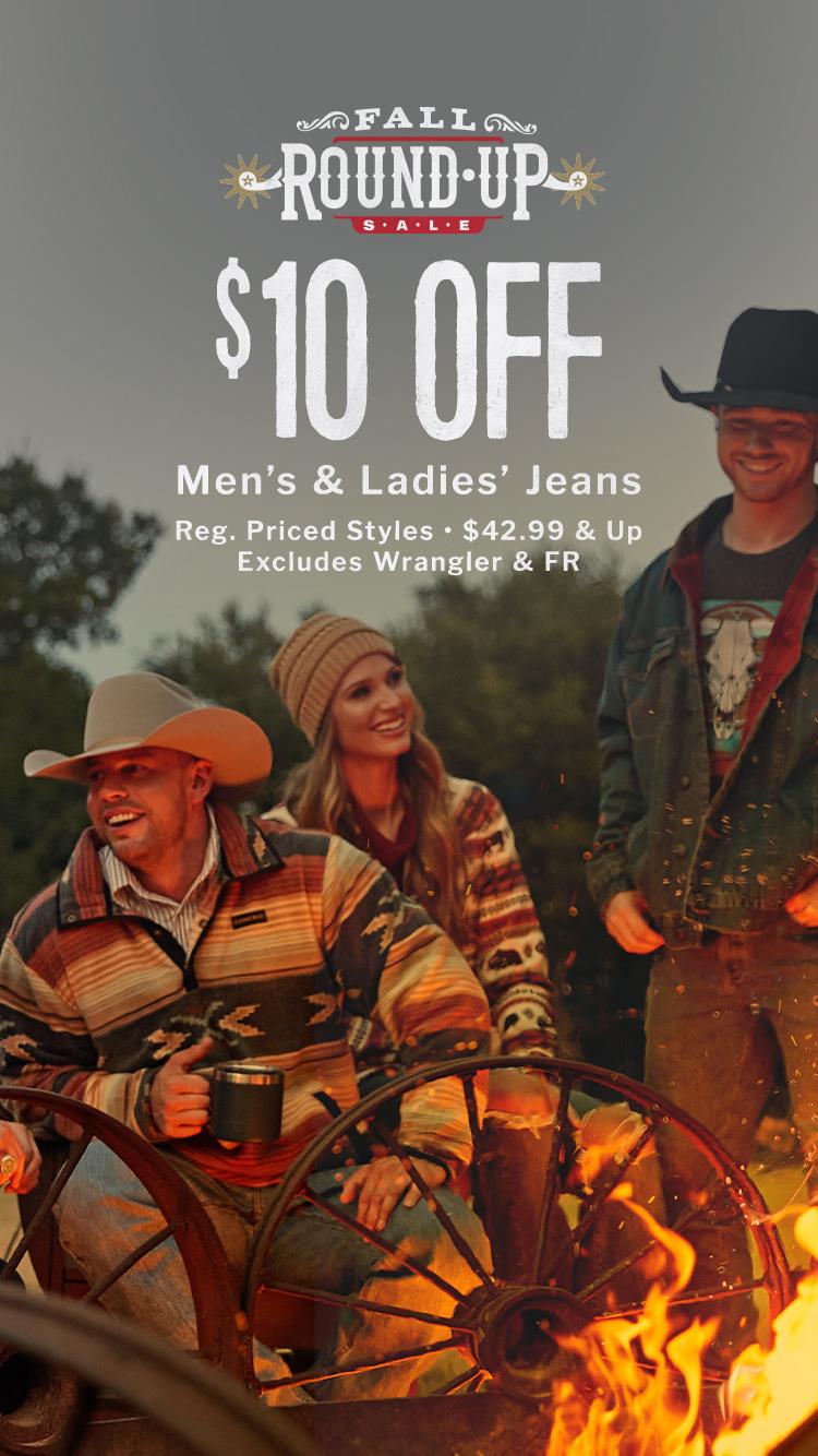 Get $10 Off Men's & Ladies' Jeans