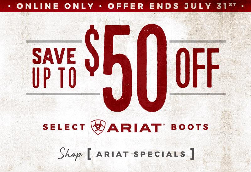 Ariat Boot Specials