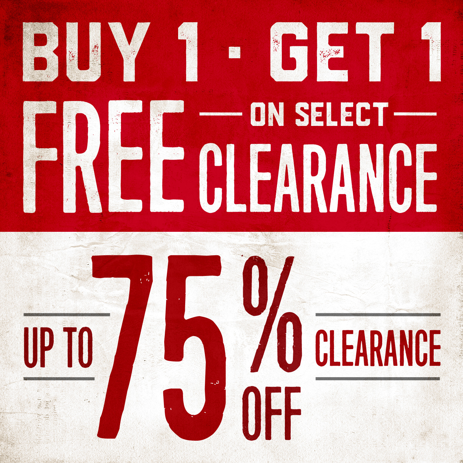 BOGO FREE and Up To 75% Off Clearance