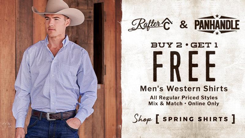 B2G1 Free Men's Rafter C & Panhandle Western Shirts